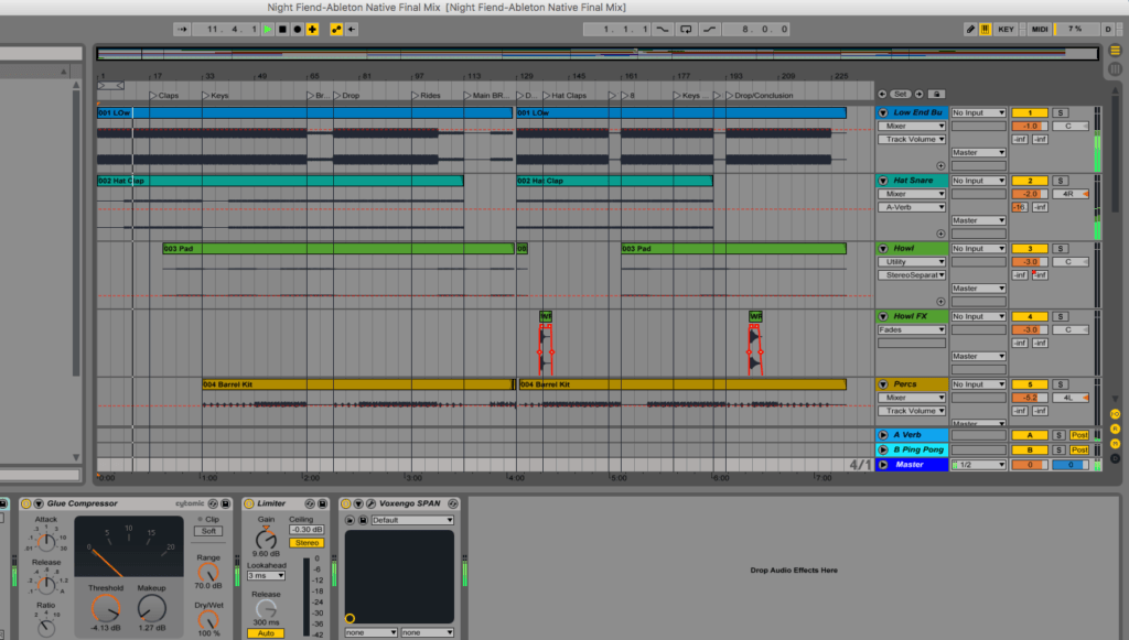techno production template ableton