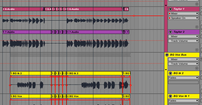 layering tracks together